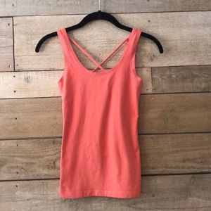 Frenchi • Coral strappy tank